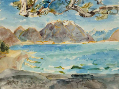 Branches & Wind, Lake Ohau, Spencer Bower, Olivia, 1979.4.3