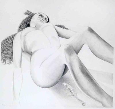Untitled (Woman with Lizard), Kahukiwa, Robin, 1998.1.1