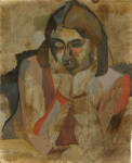 Portrait of Anne Hamblett, McCahon, Colin, 1942, 1996.2.1.a