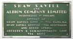Sign, Shaw Savill & Albion; 2003.4818.28