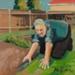 Painting, 'Cutting Edges'; Moffitt, Gilbert Trevor; 1980; ESC.15.008