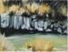 Painting, 'Vegetation-Mataura Falls, Te Au Nui'; de Wagt, Janet; 2018; ESC.18.001
