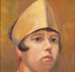 Painting, 'Head of a Girl'; Aitken, Chrystabel; 1920-1940; ESC.05.006