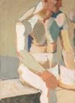 Painting, 'Seated Male Nude'; Bullmore, Edward; 1966?; ESC.89.002