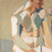 Painting, 'Seated Male Nude'; Bullmore, Edward; 1966?; ESC.89.002