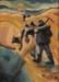 Painting, 'Miners on the Move'; Moffitt, Gilbert Trevor; 1966; ESC.15.036