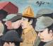 Painting, 'Watching the NZ Army Team Play Wales'; Moffitt, Gilbert Trevor; 1979; ESC.15.016