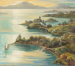 Painting, 'Sunset, Paterson Inlet from Observation Point, Stewart Island'; Walker, Max; 1938; NZC.06.004