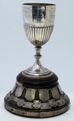 Trophy #073  Athletics U 15 440 yds Donated 1905 by Mrs Hope last awarded 1976; 2017.069