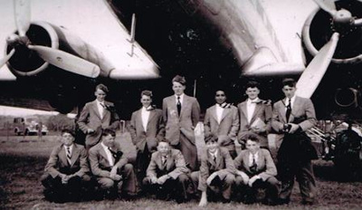 A photograph of the first WCS team to fly to an �...