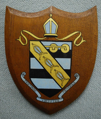Wooden sheild with early version of the WCS Old Bo...