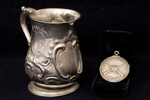 Shooting Prizes - Silver Tankard and Medal  ; 1862 & 1864