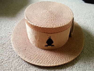 Straw Boater hat - late 1920s