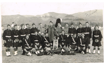 WCS Pipe Band 1948; Tesla Studios; 1948