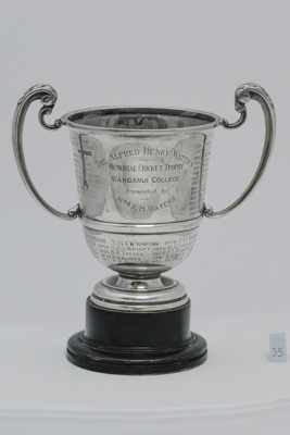 #35 The Alfred Henry Waters Memorial Trophy  for Cricket 1st X1 Batting ; 1924; 2017.044