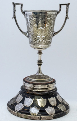 Trophy #072  Athletics Open High jump 1882-1902 then  U15 High Jump to 1971  Donated by H L Nicholas 1892; 2017.073