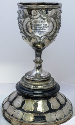 Trophy #087 Athletics- Throwing The Weight (Shot Put)   Donated by Mr R Batley in 1907