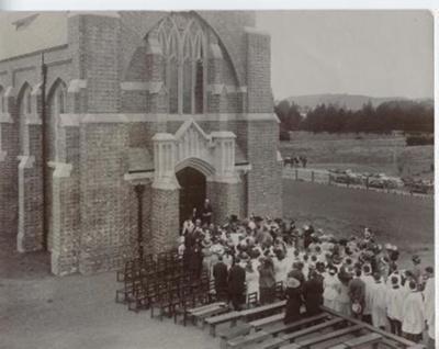 Opening of School Chapel Easter 1912; 1912; TBA