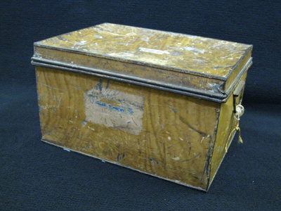 metal 'Tuck Box' as used by boarders to keep their...