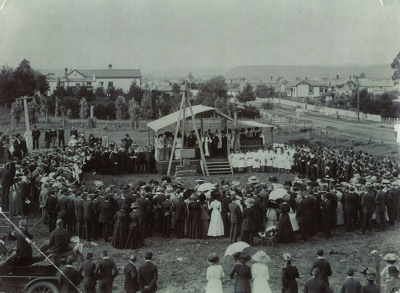 Laying of the Foundation Stone of the WCS Chapel b...