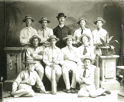 1883 WCS 1st XI Cricket Team Master is E W Andrews...