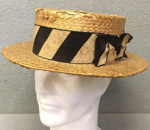A straw boater from Dr V B Cook (WCS 1937-41)  ; 1935