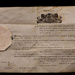 Commission Papers of Captain W T Owen Wanganui Militia 1st June 1867 - issued by Govenor Sir George Grey