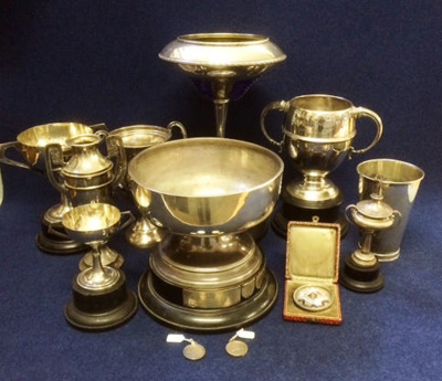 International Tennis Trophies won by A C Stedman (WCS 1921-25)