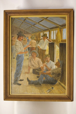 Art work - 20 minute spell for a smoke when shearing - near Wanganui 1894; Shields, F G; 1894; 2009/15