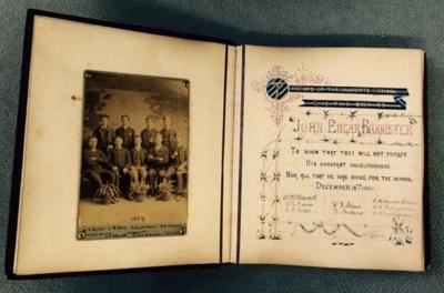 Photograph album of J E J Bannister (WCS 1883-89); 1885