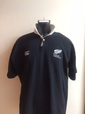 Rugby Jerseys of John Daniell (WCS 1985-89) NZ Und...