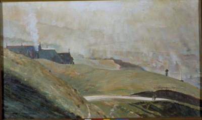 Winter Morning, Wellington, Harry Linley Richardson, VUW.1998.2