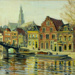 Untitled - Belgium or Dutch canal scene, Harry Linley Richardson, VUW.1961.13