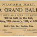 Invitation, Niagara Hall Opening ; John Ward & Co; 27.01.1928; WW.1975.219