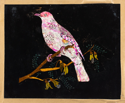 Picture, Bird on a Kowhai Branch; McLean, Margaret; 1924; WW.1986.683