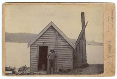 Photograph, Joe Clarke's Hut; Thomson, A; 1885-1890; WW.1975.129