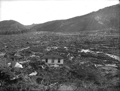 Busch's slip, Murchison earthquake, 1929, 17/06/1929, FNJ  6 x 8 16