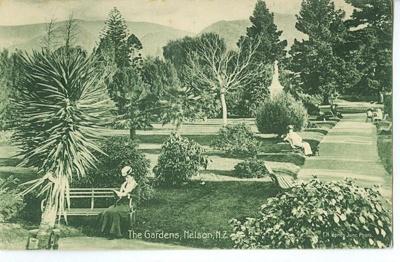 Queen's Gardens postcard, date unknown, A3526