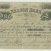 Nelson Bank £1 note, 1851, 14.37