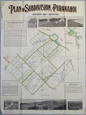Plan of subdivision, Puramahoi Golden Bay estates, date unknown, M1435