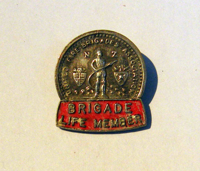 NZ Fire Brigade Life Member Badge     ; c1977; 2014.700.118