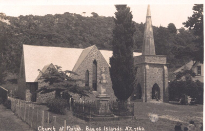 Photo: St Pauls, Paihia and Williams Memorial; Frank Duncan & Co Russell NZ.; 97/1282