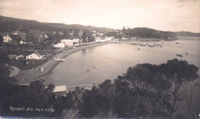 Photo: Russell, Kororareka Bay (c.1920s); Frank Duncan & Co Russell NZ.; 02/29