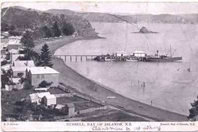 Photo: Russell Waterfront and Wharf c1920; 04/08