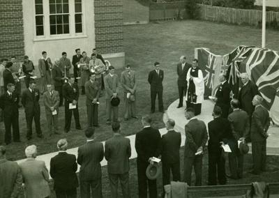 Pātea War Memorial Unveiling; H. H. Baker, Pātea; PH2012.0084
