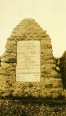 Memorial Cairn, Ōhawe Military Cemetery.; PH2012.0081