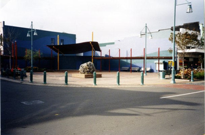 Coloured Photograph of the square in Hawera.; Gordon Hughson; 2013.070