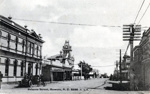 Black and White Photograph of Princes St Hawera.; H.J.Finlay.; 2013.063