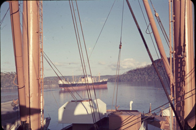 Slide: View of unidentified harbour from onboard TOFUA; Sybil Dunn; Keith Dunn; 2013.264.153