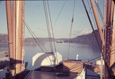 Slide: View of unidentified harbour from onboard TOFUA; Sybil Dunn; Keith Dunn; 2013.264.154